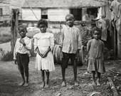 Vintage Photo African American Black Negro Children - Jim Crow Era - Civil Rights