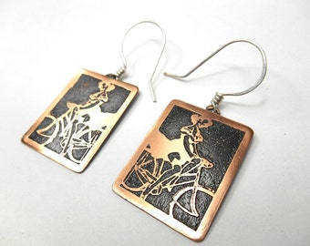 Bicycle Earrings, Cyclist Jewelry, Bicycle Jewelry, Cyclist Earrings, Women Cyclist, Gift for Cyclist, Cycling Gifts, Bicycle Accessories