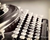 Vintage Typewriter photos, Antique typewriter wall art, writer gifts, writing instrument, typography, for writers, Love Letter, Office Decor