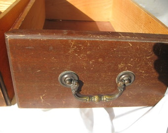 Vintage drawer, traditional, cottage, with Brass handle, dove tail, wood, This is for One Drawer (two available), 1960s era-Reduced