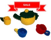 SALE - Play Tea Set, Children's Toy Tea Set, Washable Soft Tea Set