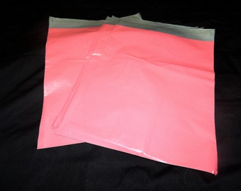 100 Pack Pink 12x15.5  Poly Mailers, Flat Poly Mailing Shipping Bags, Poly Mailer Shipping Envelope Plastic Shipping Bags