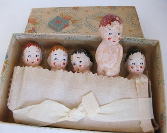 SALE-Boxed Vintage Soap in Shape of Babies, Great Shower Gift, Made in Austria