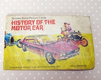 Vintage Retro Brooke Bond Tea History of the Motor Car Picture Card Book