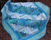 Log Cabin Batik Lap - Custom Colors - Custom Order