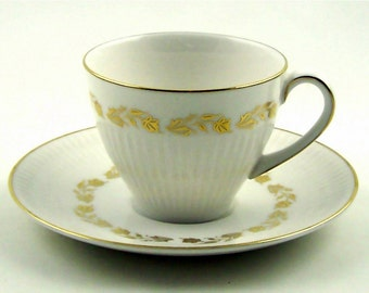 Vintage Demitasse Teacup and Saucer Royal Doulton Fairfax