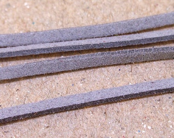 "10 yard 390"" Fauxwood Suede Grey Leather Cord  Quality  Jewelry Line 3mm Necklace Cord Bracelet Cord Jewelry Cord  handwork jewelry Line"