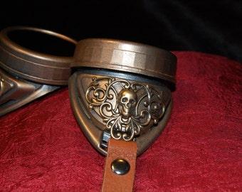 Brass Skulls Steampunk Goggles