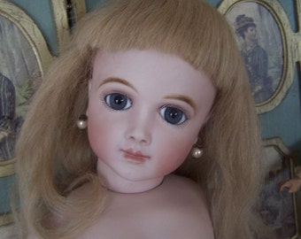 A.Thuillier A.12 T. French Bebe Doll Antique Reproduction Fine Work