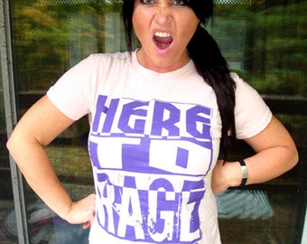 Here To Rage T-Shirt Edm Electro Techno Rave Club Clubber House Music DJ Party Tee Shirt Tshirt Womens S-2Xl