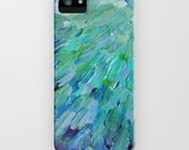 SEA SCALES Ocean iPhone 5 5c SE 6 6s 7 8 Plus X Case Samsung Galaxy Hard Phone Cover Art Colorful Mermaid Tail Feathers Abstract Painting