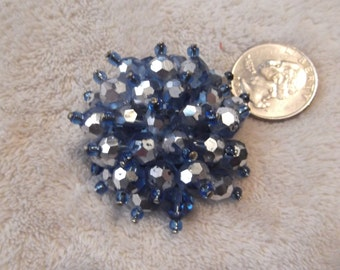 Vintage Pin-- Glass Crystal Cluster-P2477