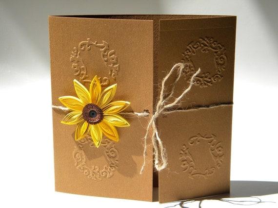 Sunflower wedding invitation Sunflower wedding Burlap – Sunflower Wedding Invitations Kits