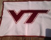 Virginia Tech Crochet Lap or Baby Blanket
