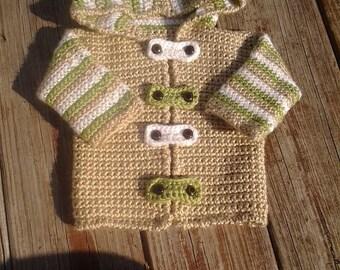 Custom Crochet Baby/Toddler Hoodie/Sweater/Cardigan