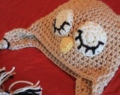 Snoozing Owl Ear Flap Hat