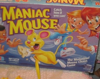 Maniac Mouse Milton Bradley Game 1993 Motorized Game, Games, Vintage board Games,Board Games /Gift Idea Not Included in Coupon Sale   :)S
