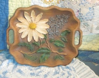 Tray, Vintage Tray, Embossed Flowered Tray, Multi Product Inc USA ,Country Decor, Farm House Decor, Vintage Home Decor, Kitchen Decor :)s