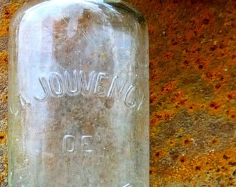 French vintage bottle. La Jouvence de l'abbe Soury