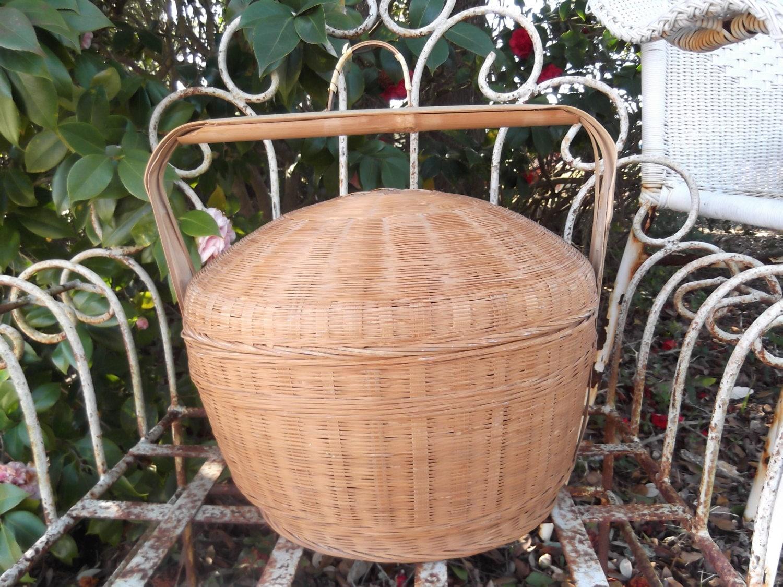 Handmade Nantucket Basket : Nantucket style basket large handmade