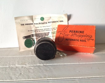 SALE Vintage Perrine Fishing Reel No. 50 Free-Stripping Automatic