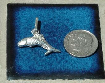 mid 70's silver fish pendant