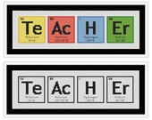TEACHER Periodic Table Chemical Element Cross Stitch Chart