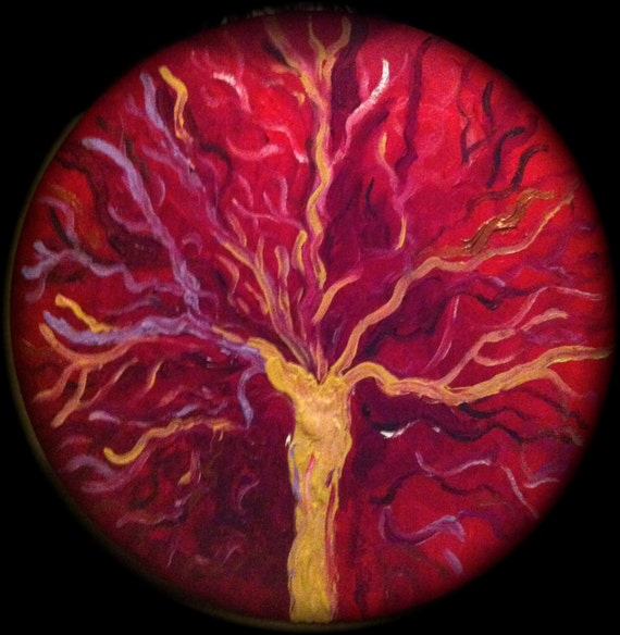 Placenta. Tree of Life. Placenta painting. Placenta print.