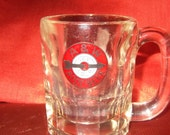 Vintage A W root beer mug older large childs size, heavy glass, one of the first mugs used by A W