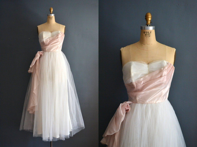 SALE 50s Party Dress / Vintage 1950s Wedding Dress