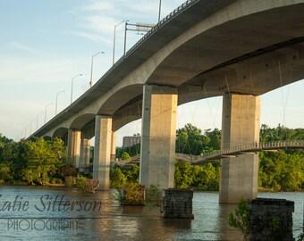 SALE Belle Isle Footbridge Richmond Virginia Picture, James River Bridge Photo, Photo Art, Framed Photography Option