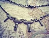Steampunk Key Charm Necklace