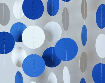 Blue And White Decorations blue and white garland birthday decorations fathers day