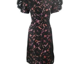 1980's Bob Mackie Black Lace Cocktail Dress