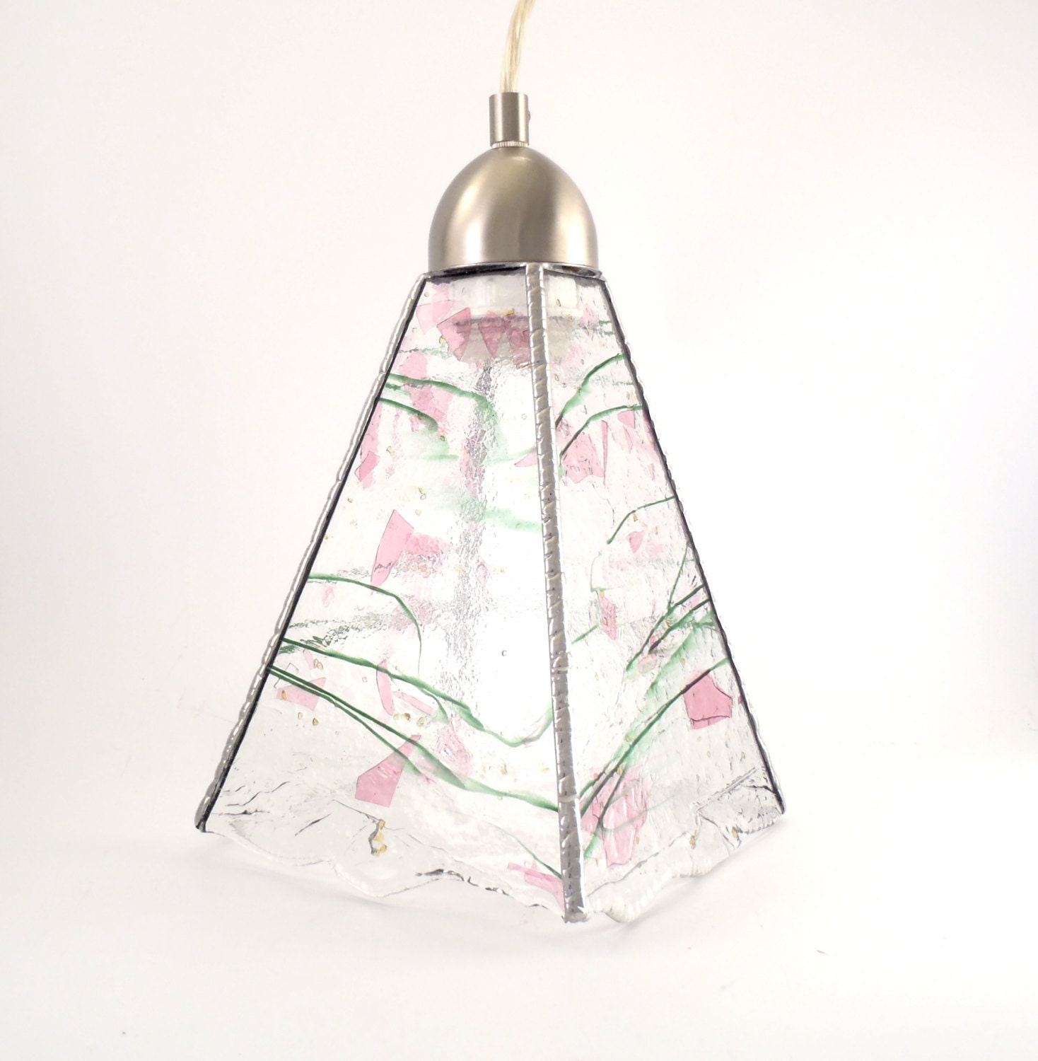Ceiling Light Fixture Stained Glass Pendant Lighting