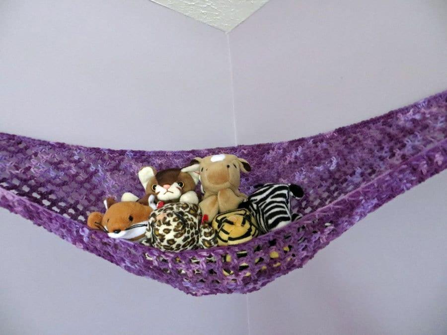 Crochet Toy Net Hammock In Purple Shades Stuffed Animal