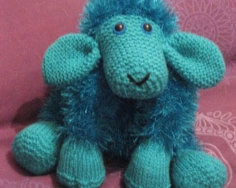 Fluffy Knitted Sheep