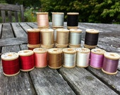 RESERVED for CHADWELL Vintage Silk Thread 27 Spools Belding Corticelli Variety of Colors