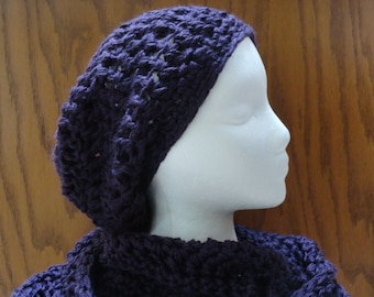 Ravelry: Ups and Downs Crochet Slouchy Beanie pattern by
