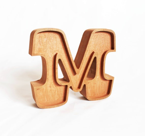 wooden letter blocks wooden letter m solid block letter m self by thecommonsign 25672 | il 570xN.509962826 bfbn
