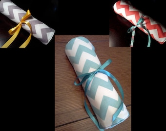 Design Your Own Chevron Travel Jewelry Roll