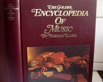 The Golden Encyclopedia Of Music by Norman Lloyd for Music instruction, home staging, photo props, library decor