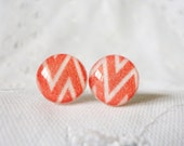 Red Chevron Studs - Only available in 8mm and 6mm