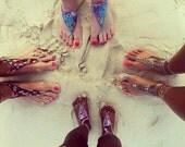 Handmade Crochet Barefoot Sandals,Hippie Foot Thongs Crochet Accessories, Bridal, Bridesmaids, Summer, Beach