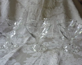 Set of 6 Boopie, Candlewick Sherbet Glasses