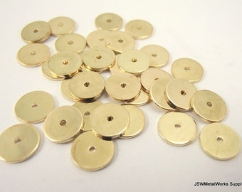 Smooth Gold Heishi Beads, 10 x 1 mm, 100 Pieces