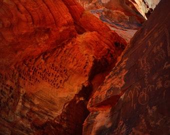 Petroglyphs Southwest Desert Valley of Fire Lomography