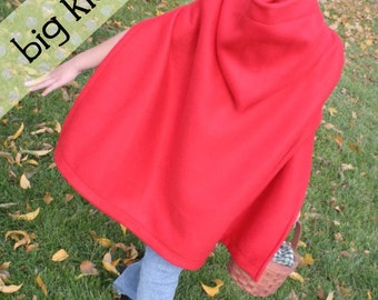 RTS size 10 - Big Kid Fleece Cape/Cloak Costume