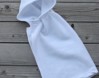 ON SALE - RTS, size 12m fleece cape in white