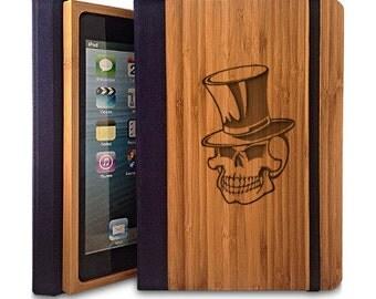 Skull - Bamboo iPad Mini Case, Wood iPad Mini Case, iPad Mini Bookcase